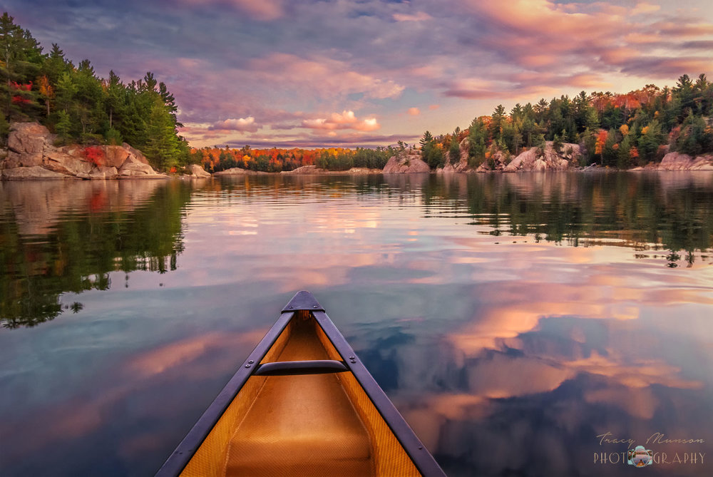 We went for an evening paddle after dinner on our last night in Killarney Provincial Park, Ontario and we were treated to this spectacular sunset. It made the chilly, rainy nights worthwhile and has inspired us to do more autumn camping this year. Killarney is my favourite place to go camping in Ontario, if you would like to learn more about the area, you may be interested in this   travel guide   that I wrote about our experiences there.