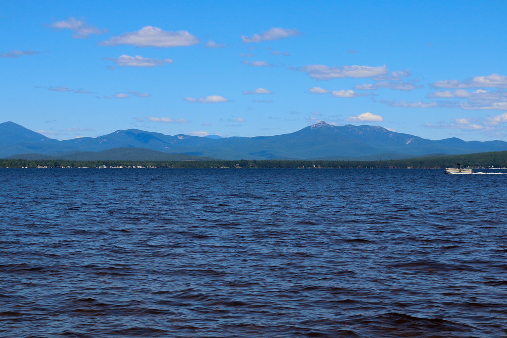 View of Lake Ossipee from the boat