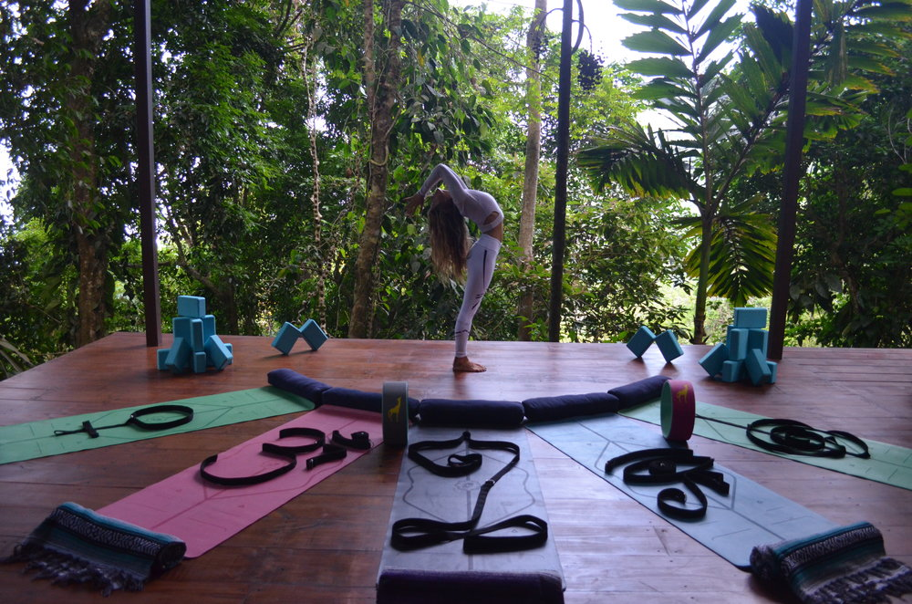 The yoga platform was one of the most peaceful places I've ever done yoga, and I've practiced a lot of yoga!
