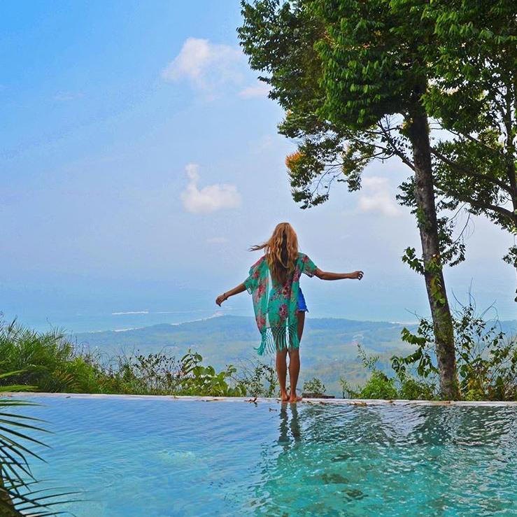 The infinity pool overlooked breathtaking scenery surrounding the resort.