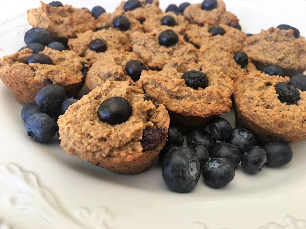 Best Vegan Blueberry Muffins- Gluten Free- YogaKy