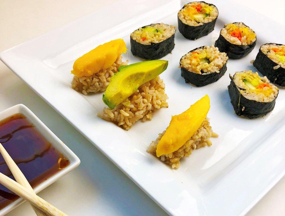 Vegan Mango Sushi Recipe