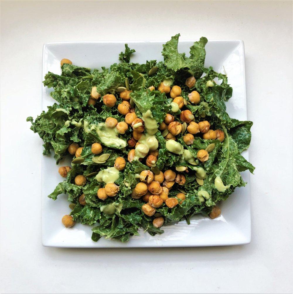 Kale Salad Yoga ky