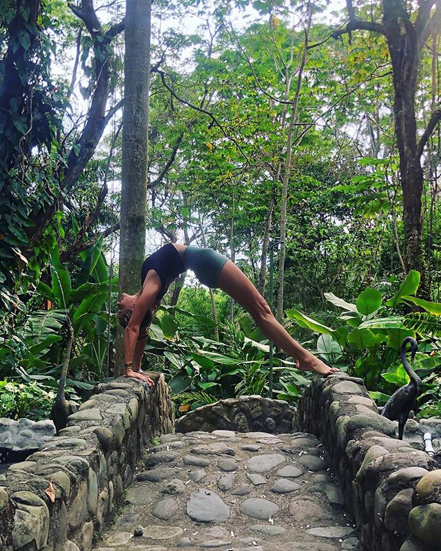 The bad news is time flies, the good news is you're the pilot. ✈️ 🌍 📍@paradorresortandspa  Wearing the new @aloyoga summer line that launched today!! ✨✨✨ #yoga #bridge #travel #costarica 📷👉🏼 @paging_kev