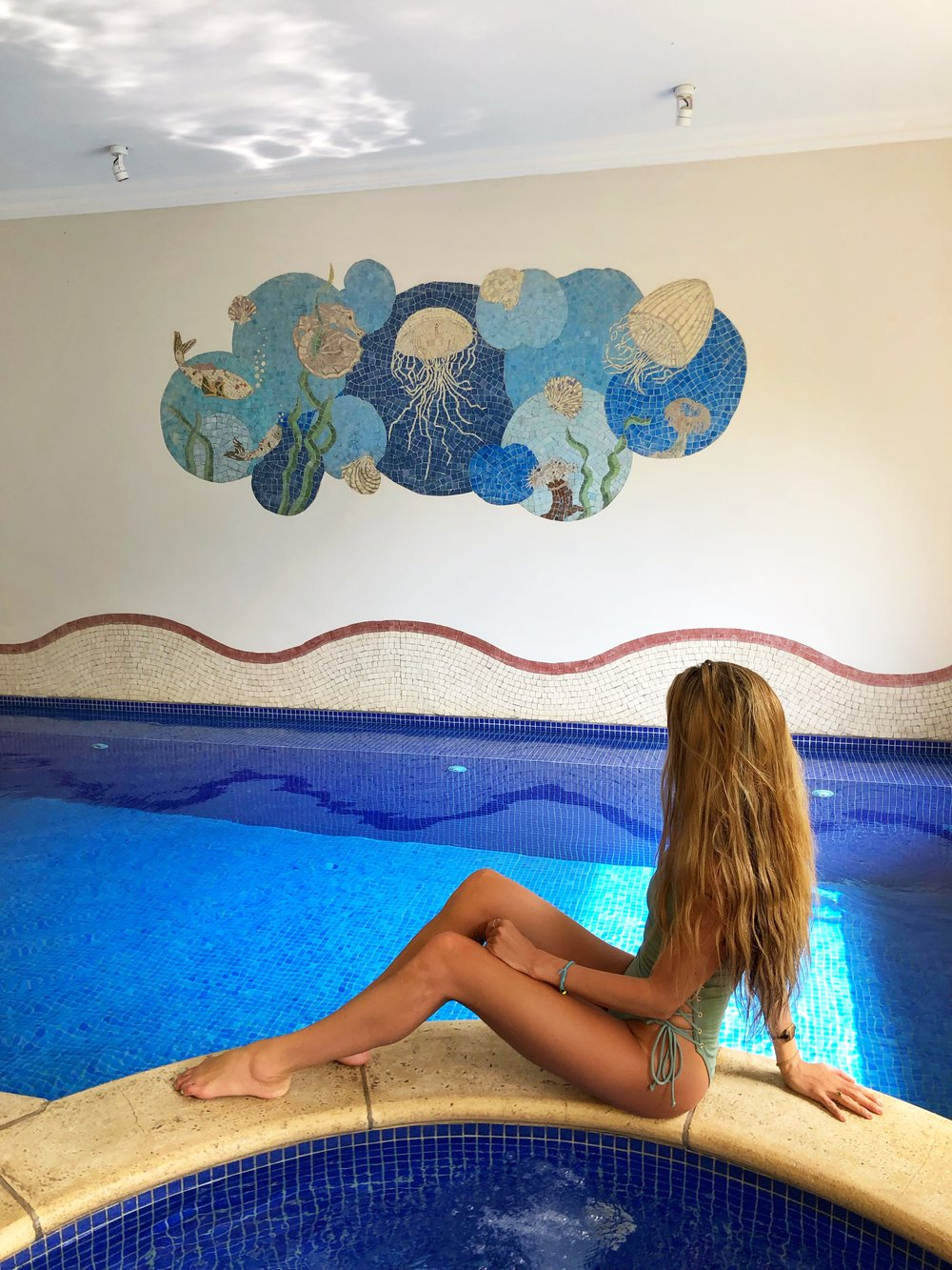 Pool in the Spa @yoga_ky