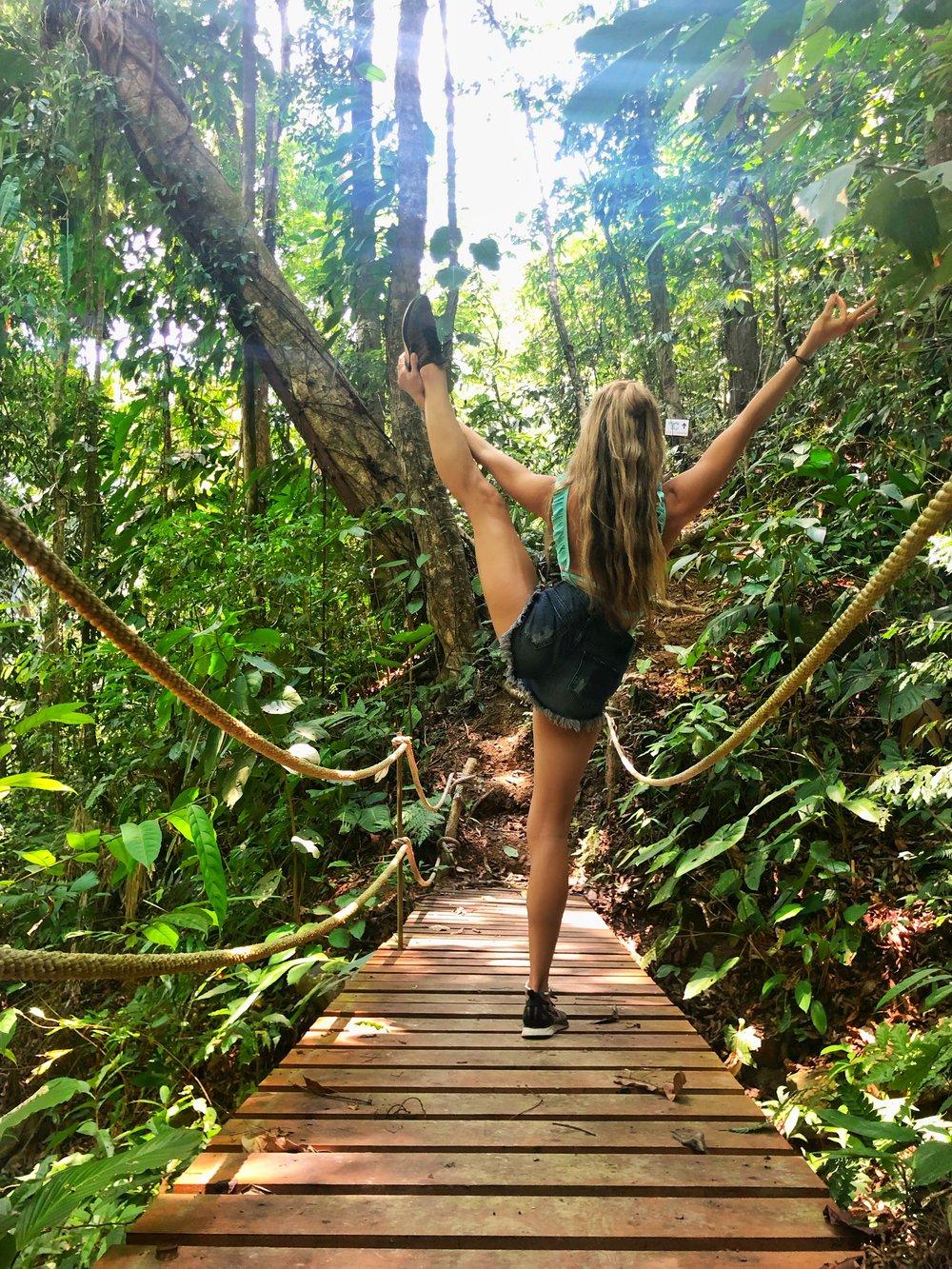 Yoga on a Bridge in Costa Rica: Vista Celestial