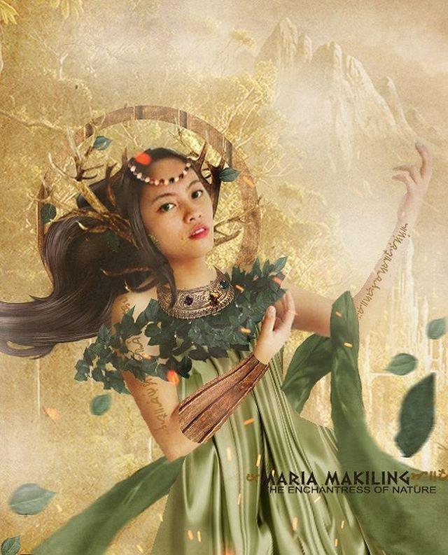 Mariang Makiling, Tagalog Diwata of Mt  Makiling + Full (Super)Moon