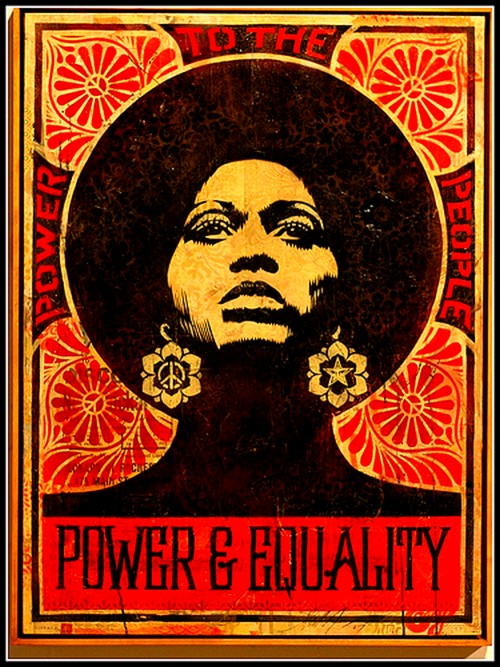 Power & Equality by Shepard Fairey, 2007