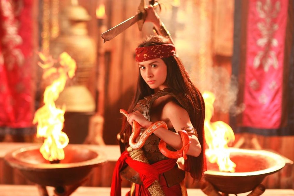Marian Rivera as the title character in GMA Network's Amaya (2011), a precolonial warrior princess destined to change a culture and society dominated by men