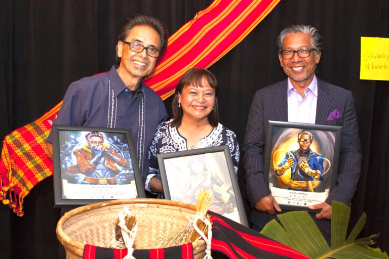 Legacy Honorees, from left, Carlos Zialcita, Bernadette Borja-Sy and Alan-Manalo (INQUIRER/ Wilfred Galila)