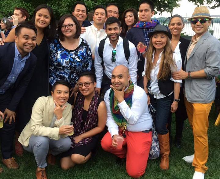 Several LGBTQ Filipino Americans represented at New York City Mayor de Blasio's annual Pride Party at Gracie Mansion (Leah Obias)