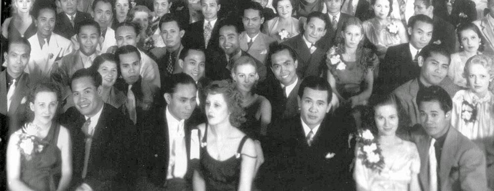 Manongs with their white dates. Courtesy of Travelin' Asian, reprinted fromFilipinas Magazine, February 1995. Source:FANHSStockton,PangasinanAssociationofLosAngeles
