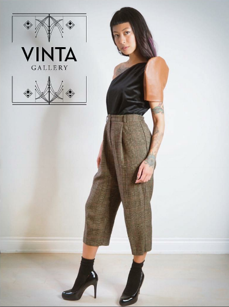 """Asymmetrical Terno Top"" from VINTA's Fall 2017 Collection"