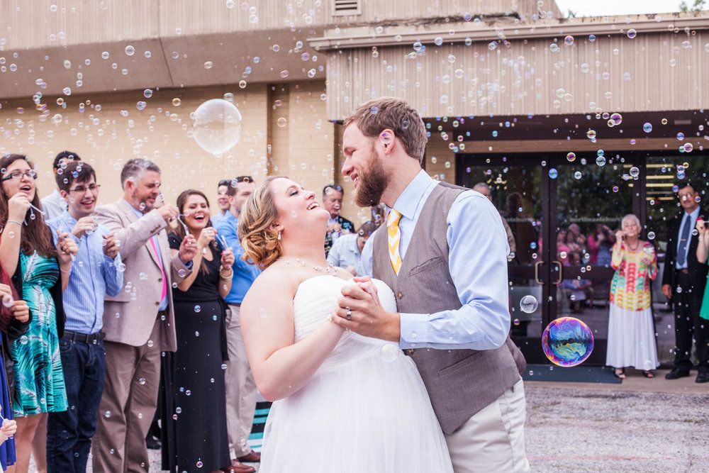 Happy Wife and Husband Bubbles