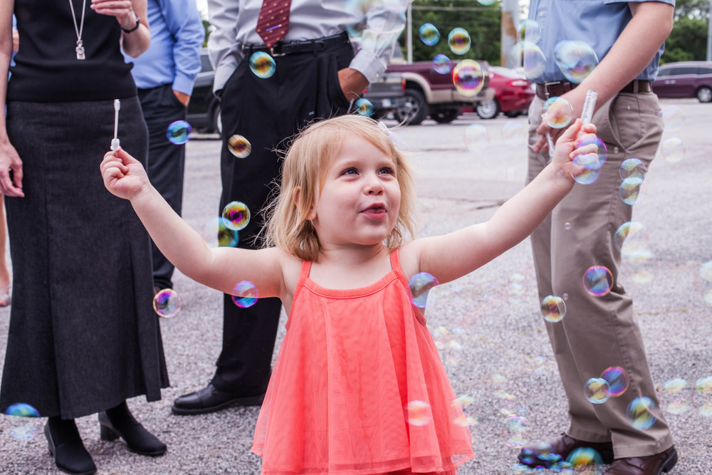 Cute Little Girl Excited For Bubbles