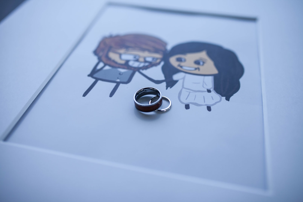 Rings and Cute Portrait Photo