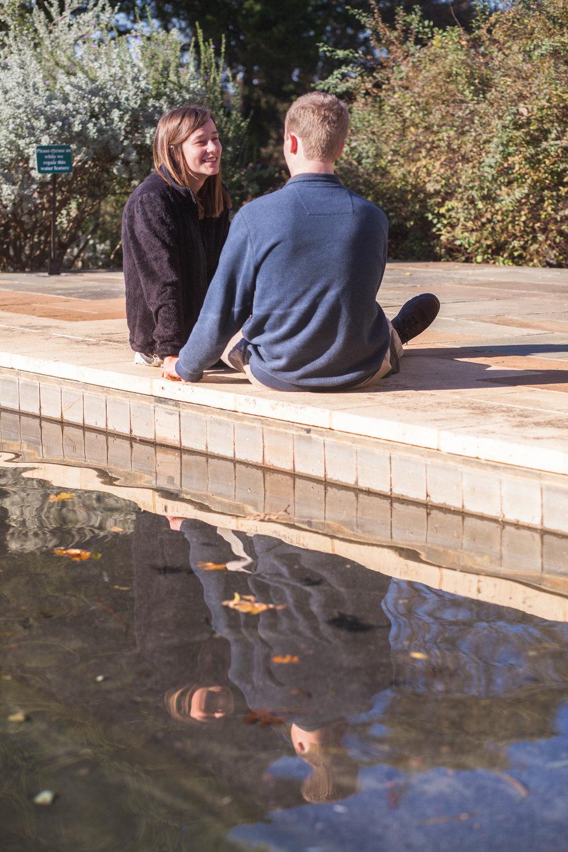 Reflection Pool Engagement Photo