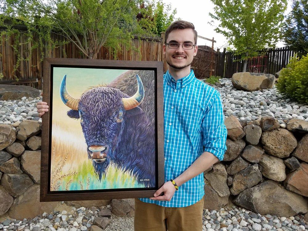 Ben's framed American Buffalo.