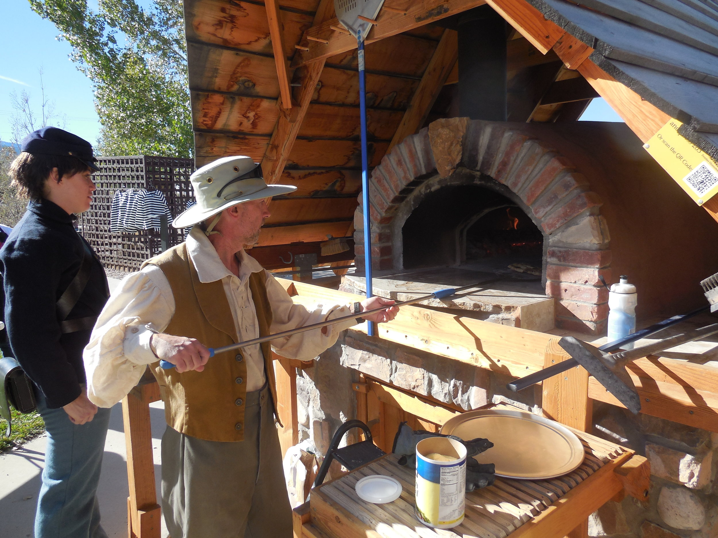 Tasty treats from the earth oven at Iron Mission Days.