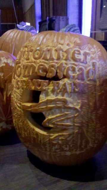Frontier Homestead in pumpkin form.