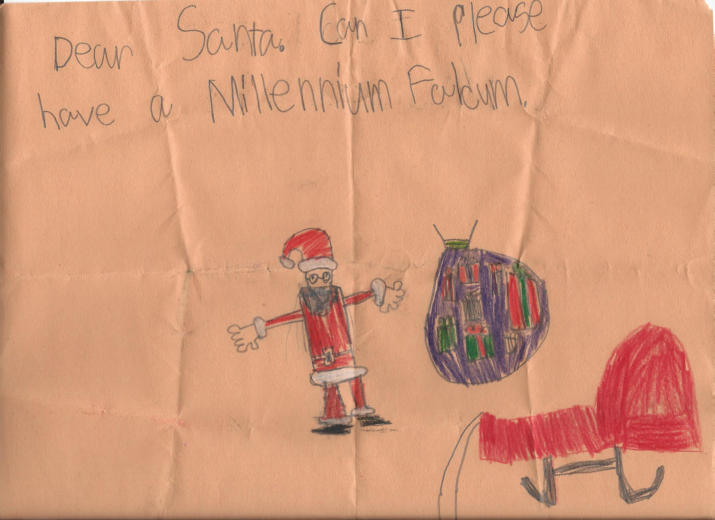 This letter came to Santa during our Christmas at the Homestead event. We hope that you, and this young man, have a wonderful Holiday.