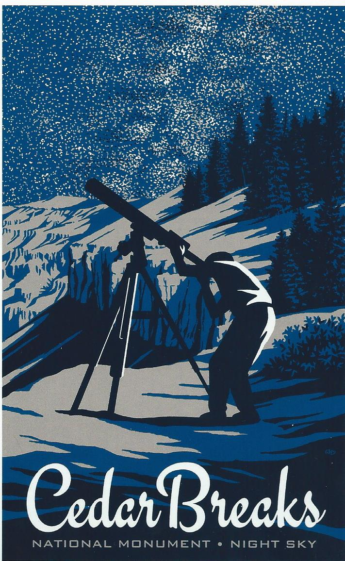 """Cedar Breaks Night Sky""2013 Screenprint John Henry Clark"