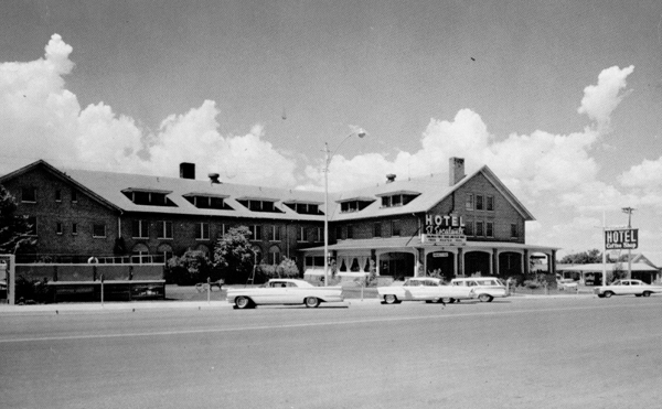 The hotel in the 1960's.