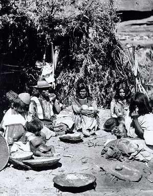 A Paiute camp.