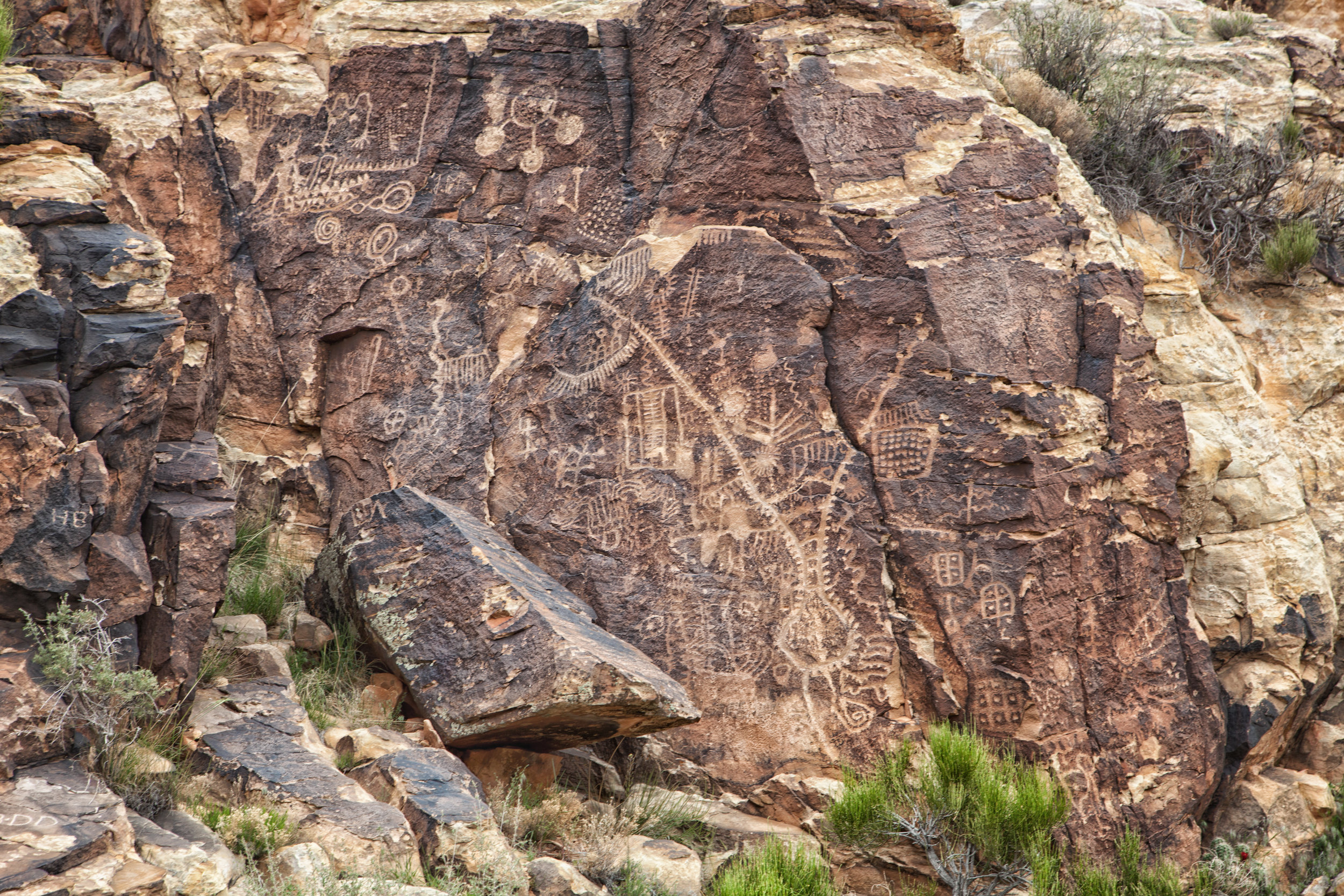 Parowan Gap Petroglyphs Photo: Alex Santiago Courtesy of Cedar City Brian Head Tourism Bureau