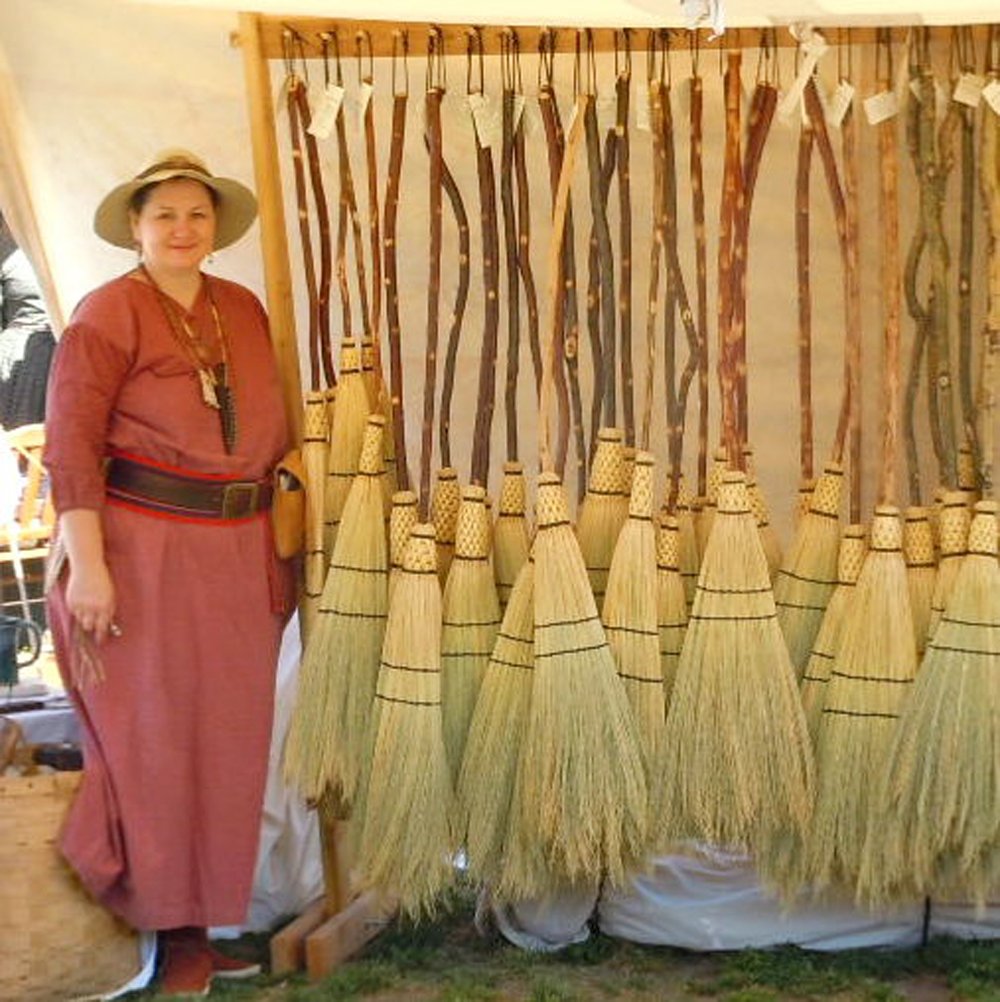 Corn broom maker Marie Jagger will be one of the many Festival vendors.