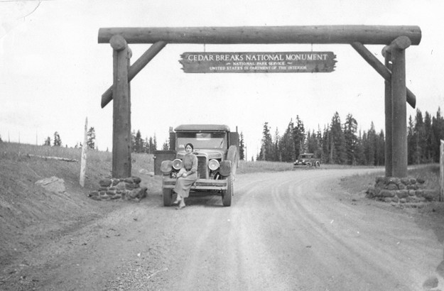 Early entrance to Cedar Breaks.