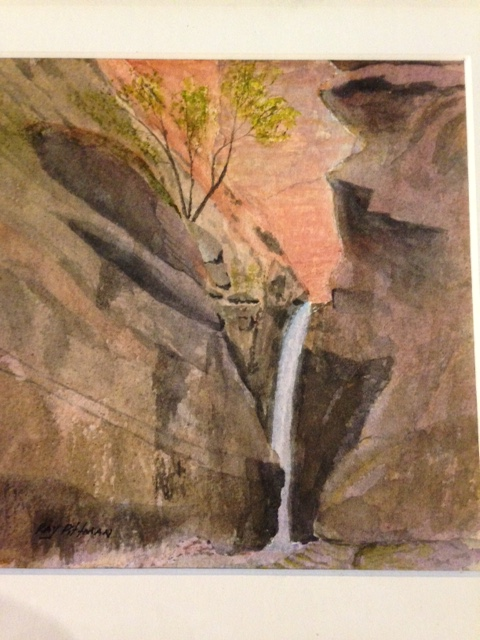 Bear Trap Canyon Fall- Ray Pittman - watercolor