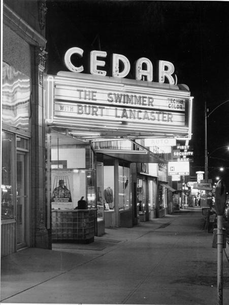 Cedar Theatre, 1968