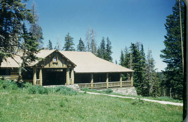 Cedar Breaks Lodge. The dining room is on the right.