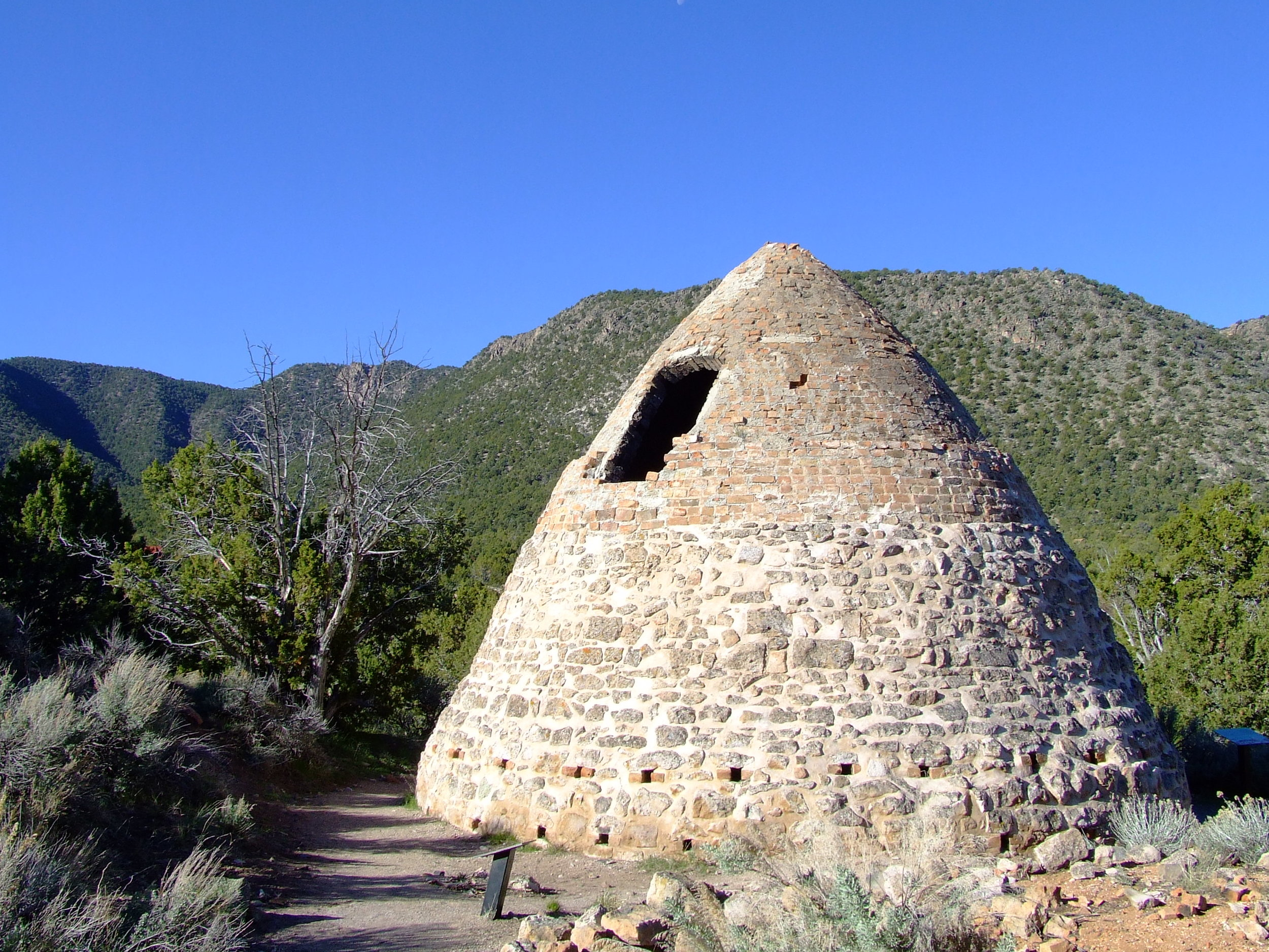 One of the remaining charcoal kilns at Old Iron Town.