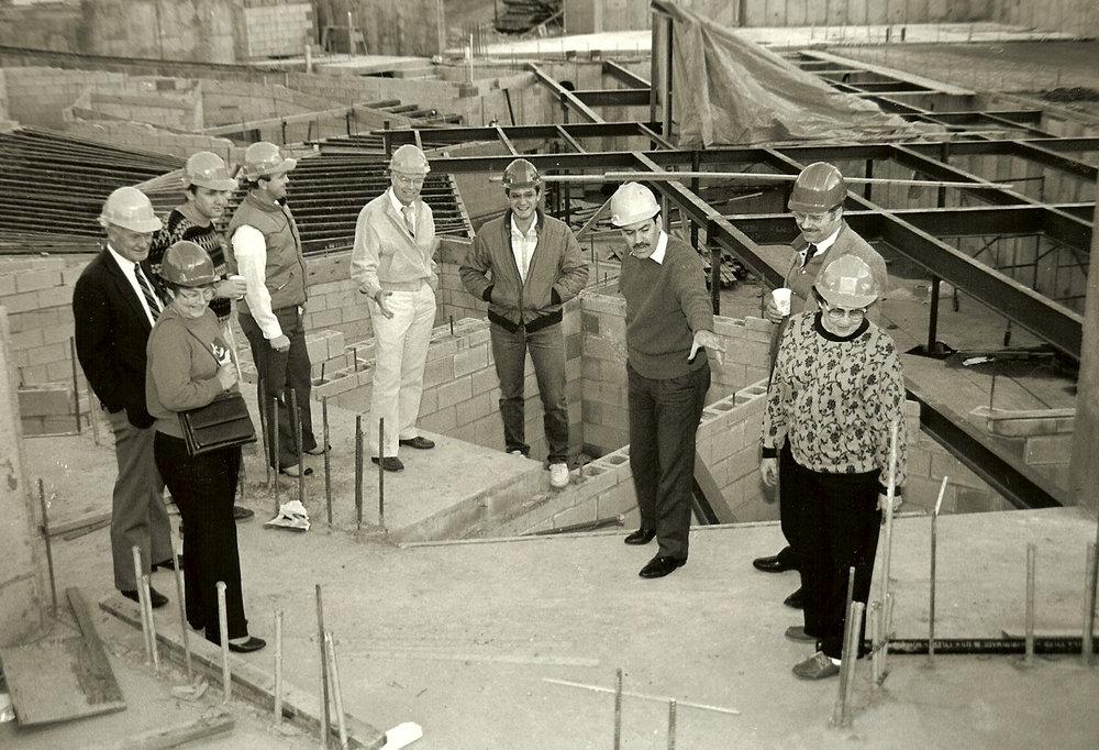 Construction tour of the Randall L. Jones Theatre