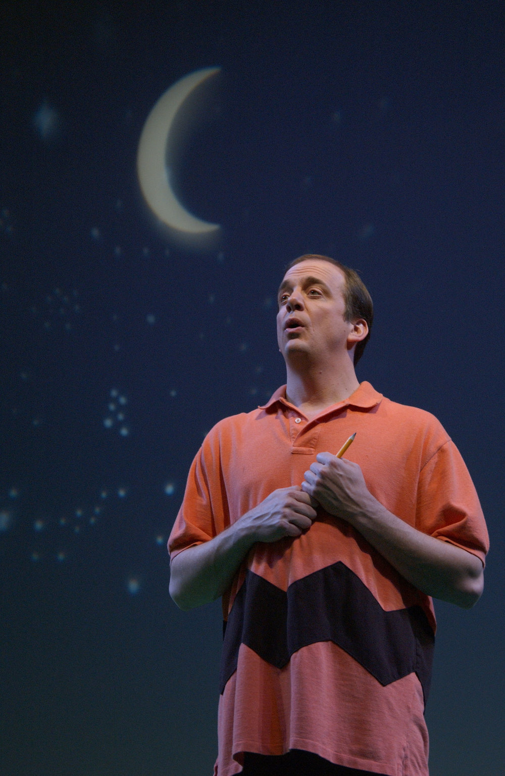 Chris Mixon as Charlie Brown in the Utah Shakespeare Festival's 2002 production of  You're a Good Man, Charlie Brown.  (Photo by Karl Hugh. Copyright 2002 Utah Shakespeare Festival.)