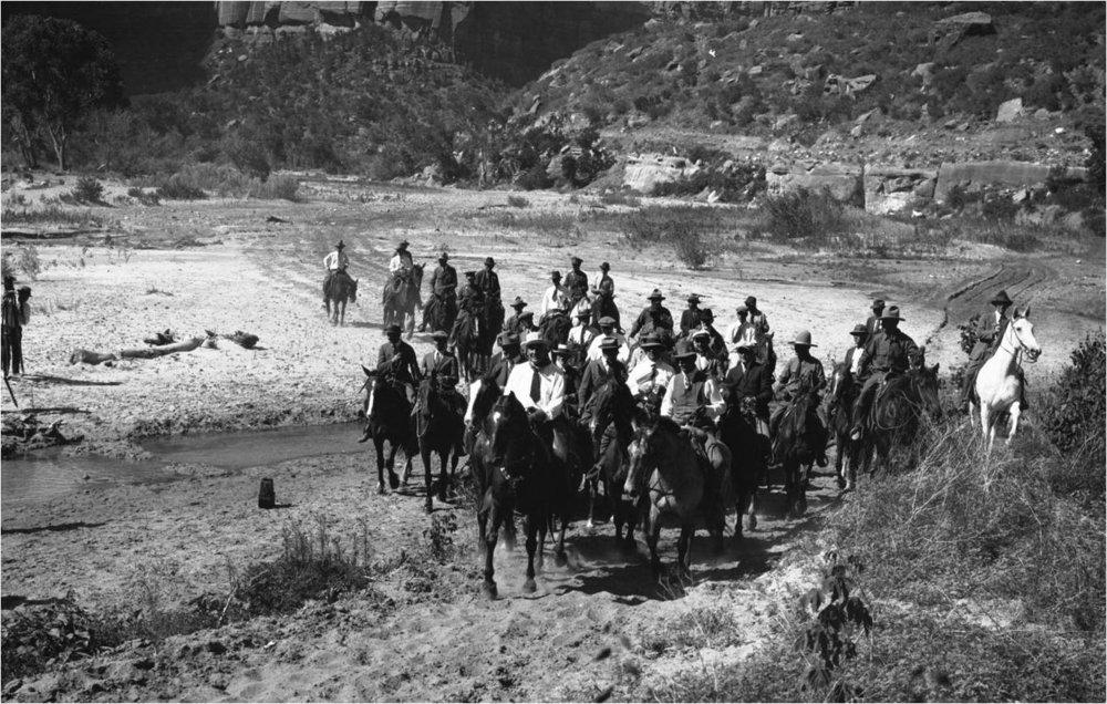 President Harding visits Zion National Park