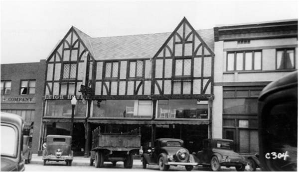 The Leigh building before the fire.