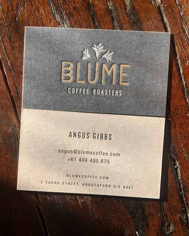 Branding and business card I designed for the up and coming Melbourne based coffee roaster: @blume_coffee - so stoked how these turned out. More from them coming soon! Watch out. #design #logo #coffee #blumecoffee #branding #letterpress