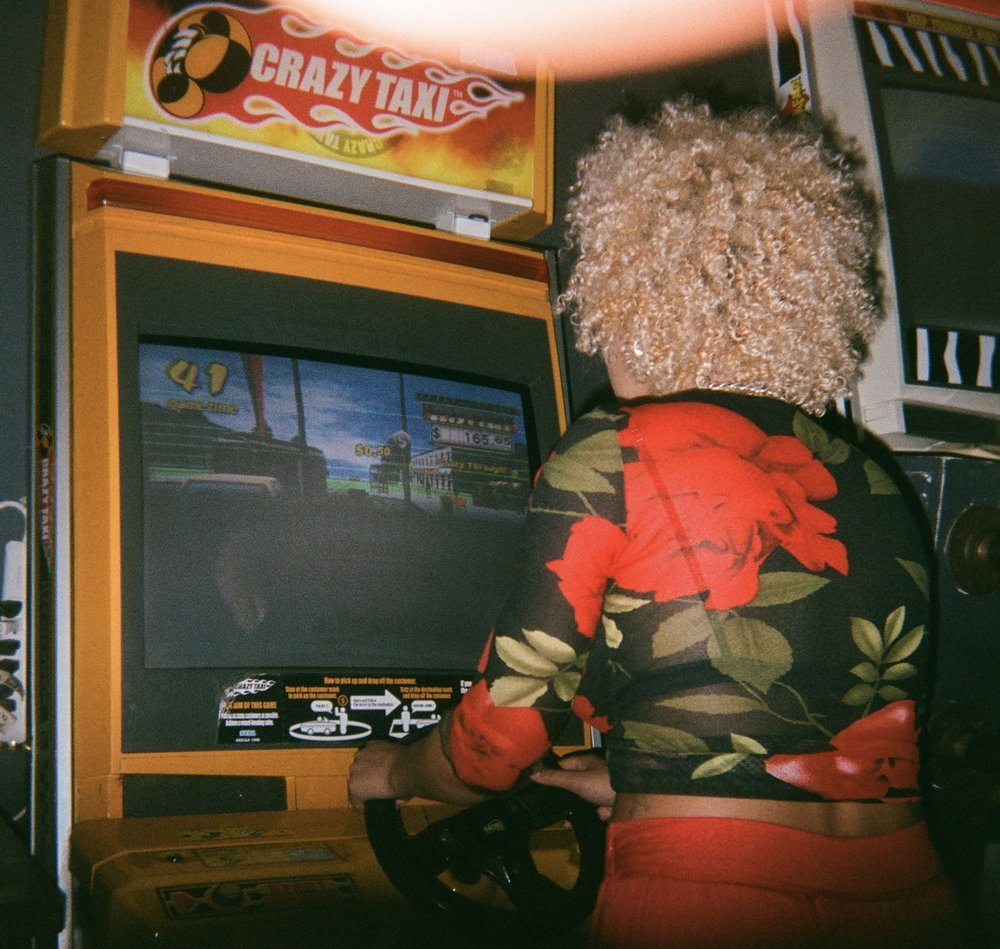 August 2018 // New York, New York - Playing crazy Taxi at Barcade on St. Marks Pl.