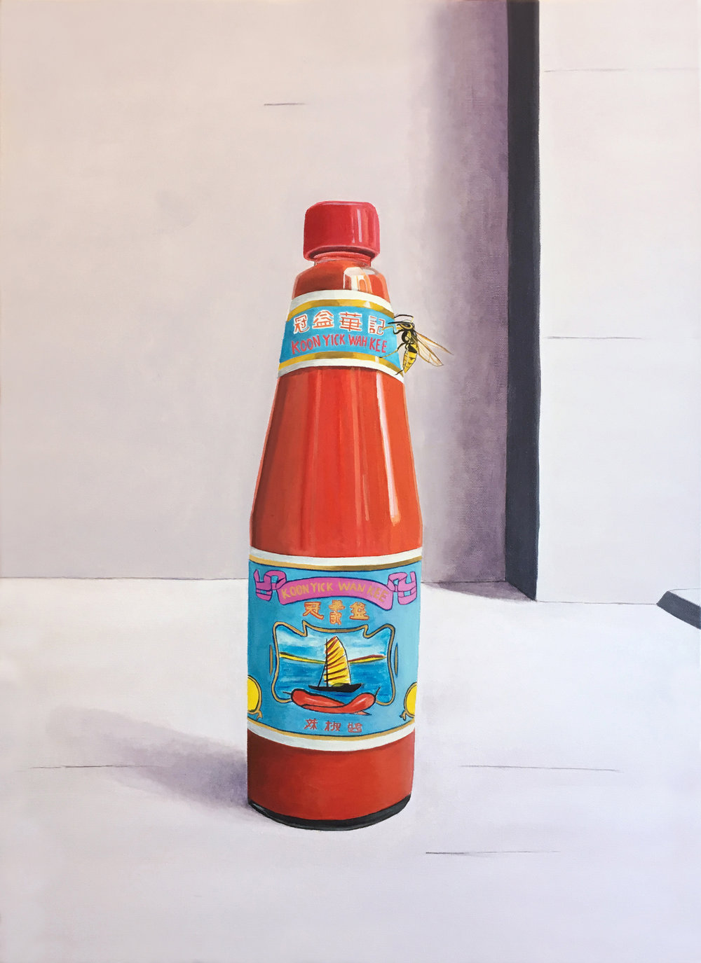 Hot Sauce With Wasp, 2018, Oil on Canvas, 70 x 50cm - Tom Keukenmeester.jpg