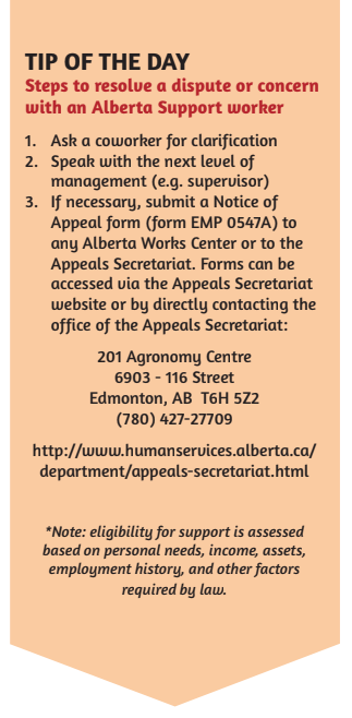 Alberta Supports Stride Tips John Humphrey Centre For Peace And