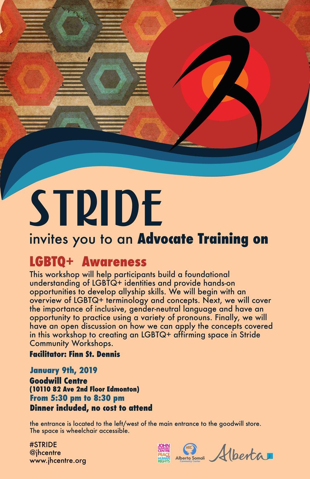 LGBTQ+ Awareness Stride Edmonton Jan09