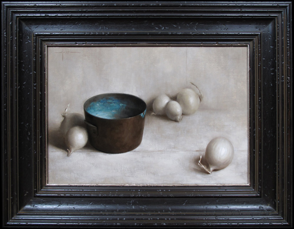 Composition with Oxidized Copper Bowl & Onions (In Frame).jpg