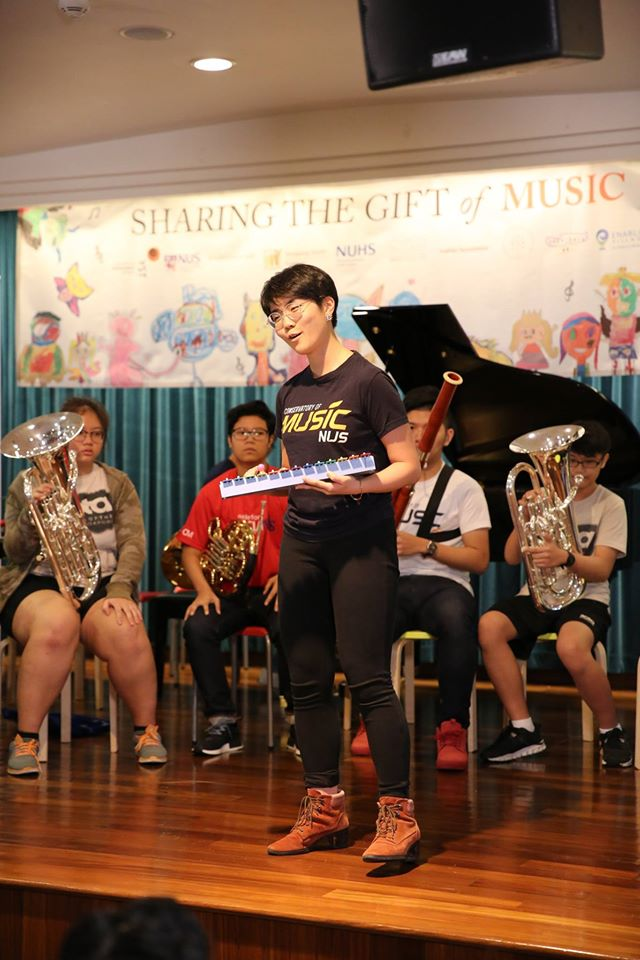 YST piano major Lin Xiangning (Credit: Sengkang Health)