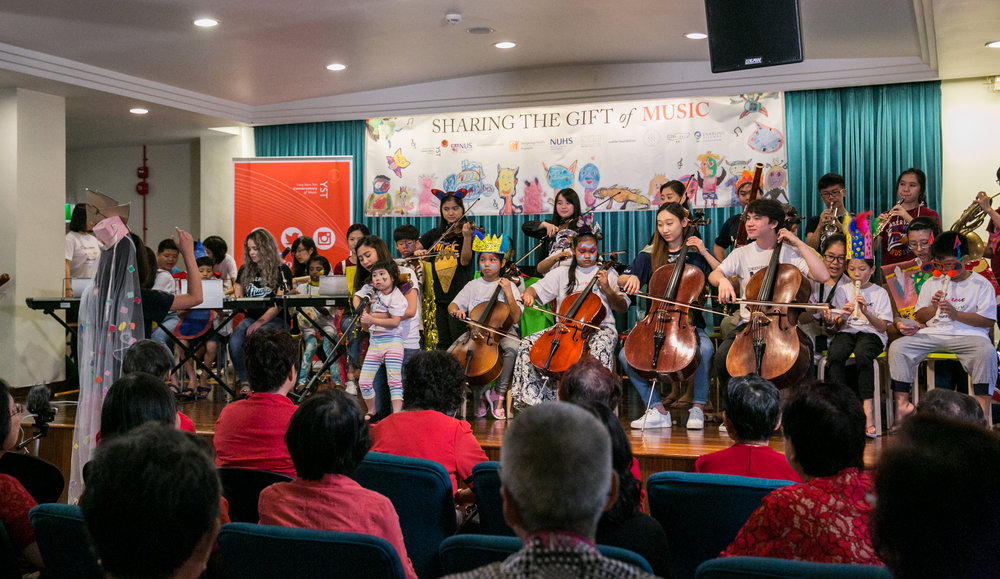 Above: YST Connects: Sharing Gifts through Music on 1 April 2017 at Alexandra Hospital