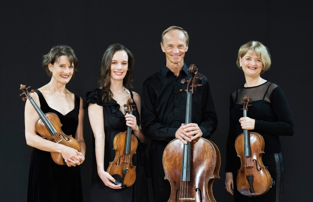 Monique (2nd from left) with the New Zealand String Quartet.