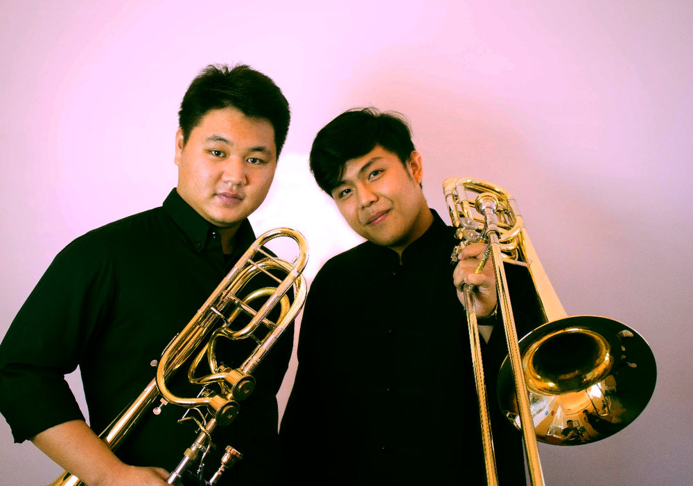 Above: Pradch Limvoranant (BMus Year 4, Trombone) and Pawin Pungbua (BMus Year 2, Trombone) are co-coordinators of the inaugural Thailand International Trombone Festival
