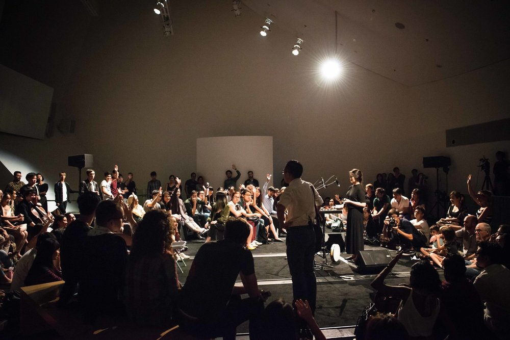 This Storm Is You (2017)  performed at the ArtScience Museum,   where Mervin was music director and played electronics